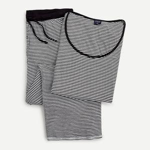 J CREW Ribbed long-sleeved pajama top & pants